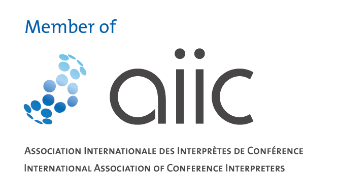 aiic Dolmetscher tlumacz angielski booth conference interpreting simultaneous andrew gillies